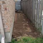 prep for stone walkway